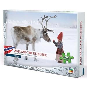 "Vennerod forlag (001) - Per Breiehagen: ""Anja and the Reindeer"" - 1000 pezzi"
