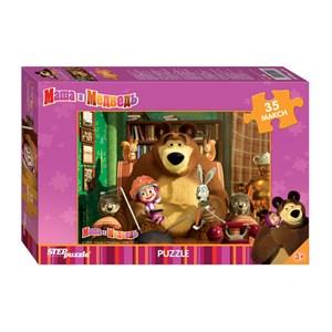 "Step Puzzle (91211) - ""Masha and The Bear"" - 35 pezzi"