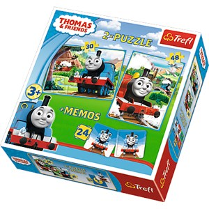 "Trefl (90602) - ""Thomas & Friends + Memo"" - 30 48 pezzi"