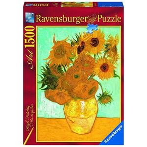 """Ravensburger (16206) - Vincent van Gogh: """"The Sunflowers"""" - 1500 pezzi"""
