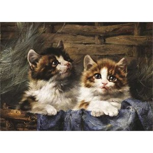 "Gold Puzzle (60683) - Julius Adam: ""Two Kittens in a Basket"" - 500 pezzi"