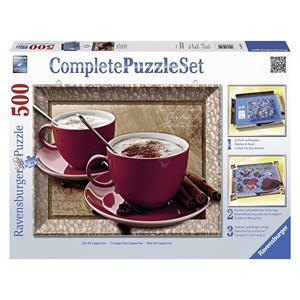 """Ravensburger (14892) - """"Time for Cappuccino"""" - 500 pezzi"""