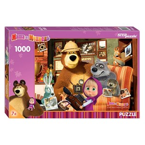 "Step Puzzle (79605) - ""Masha and the Bear"" - 1000 pezzi"