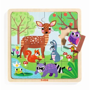 "Djeco (01812) - ""Forest"" - 16 pezzi"