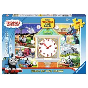 """Ravensburger (07327) - """"Thomas Right on Time Puzzle"""" - 60 pezzi"""