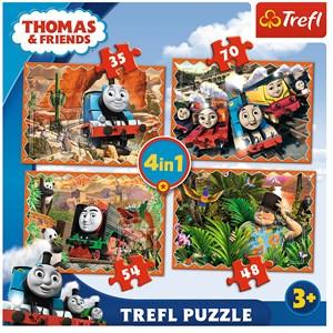 """Trefl (34300) - """"Travels around the world"""" - 35 48 54 70 pezzi"""