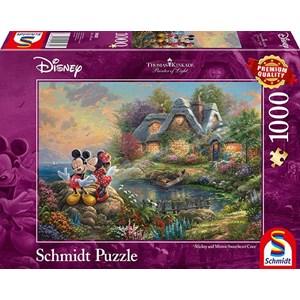 "Schmidt Spiele (59639) - Thomas Kinkade: ""Sweethearts Mickey & Minnie"" - 1000 pezzi"