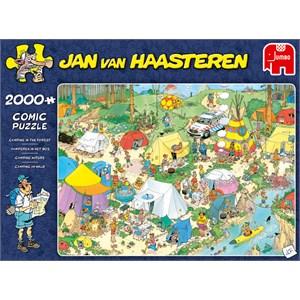 """Jumbo (19087) - Jan van Haasteren: """"Camping in the Forest"""" - 2000 pezzi"""