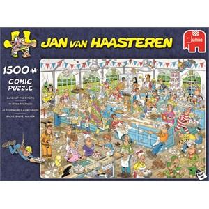 """Jumbo (19077) - Jan van Haasteren: """"Clash of the Bakers"""" - 1500 pezzi"""