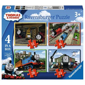 "Ravensburger (06937) - ""Thomas & Friends"" - 12 16 20 24 pezzi"