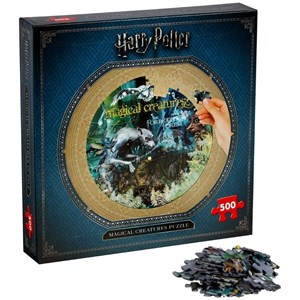 """Winning Moves Games (2473) - """"Harry Potter, Magical Creatures"""" - 500 pezzi"""