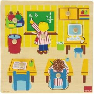 "Goula (53035) - ""School Wooden Peg"" - 7 pezzi"