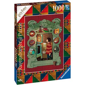"""Ravensburger (16516) - """"At Home with the Weasley Family"""" - 1000 pezzi"""