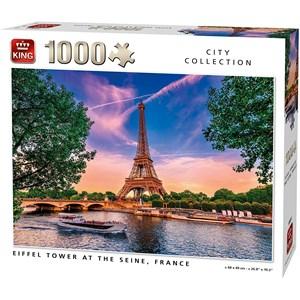 "King International (55851) - ""Eiffel Tower at The Seine"" - 1000 pezzi"