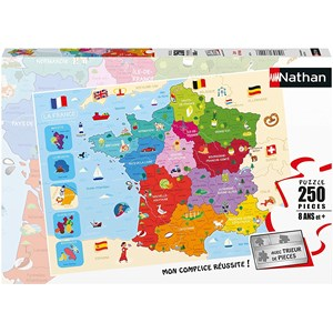 """Nathan (86875) - """"Map of France"""" - 250 pezzi"""