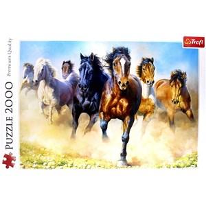 """Trefl (27098) - """"Galloping Herd of Horses"""" - 2000 pezzi"""