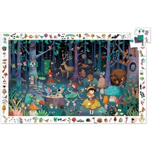 """Djeco (07504) - """"Observation Puzzle, Enchanted Forest"""" - 100 pezzi"""