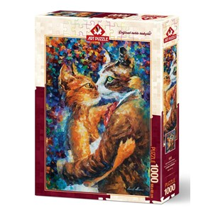 "Art Puzzle (4226) - ""Dance of the Cats in Love"" - 1000 pezzi"