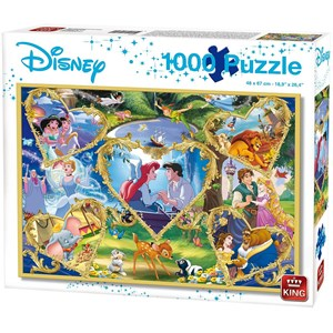 "King International (55829) - ""Disney, Movie Magic"" - 1000 pezzi"