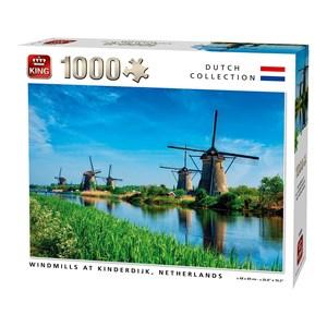 "King International (55885) - ""Windmills Kinderdijk Netherlands"" - 1000 pezzi"