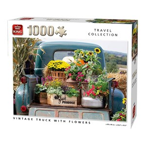 """King International (55862) - """"Vintage Truck with Flowers"""" - 1000 pezzi"""