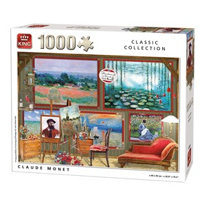 "King International (55864) - ""Claude Monet"" - 1000 pezzi"