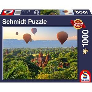 "Schmidt Spiele (58956) - ""Hot Air Balloons Mandalay Myanmar"" - 1000 pezzi"