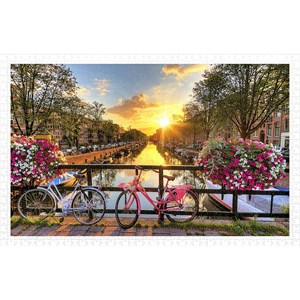 "Pintoo (h1770) - ""Beautiful Sunrise Over Amsterdam"" - 1000 pezzi"