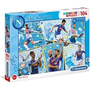"""Clementoni (27138) - """"SSC Napoli Supercolor Puzzle"""" - 104 pezzi"""