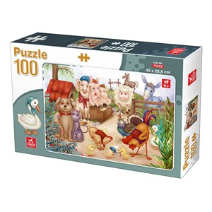 "Deico (76502) - ""Farm Animals"" - 100 pezzi"