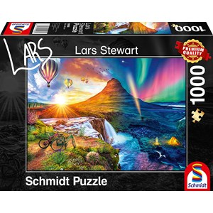 """Schmidt Spiele (59908) - Lars Stewart: """"Island, Night and Day"""" - 1000 pezzi"""