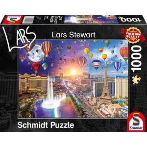 "Schmidt Spiele (59907) - Lars Stewart: ""Las Vegas, Night and Day"" - 1000 pezzi"