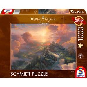 """Schmidt Spiele (59679) - Thomas Kinkade: """"Spirit, The Cross"""" - 1000 pezzi"""