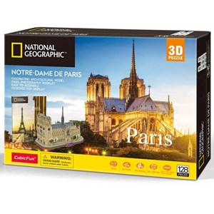 """Cubic Fun (ds0986h) - """"Notre-Dame de Paris"""" - 128 pezzi"""