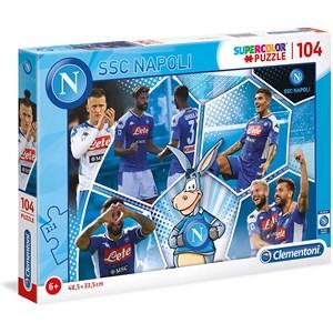 """Clementoni (27139) - """"SSC Napoli Supercolor Puzzle"""" - 104 pezzi"""