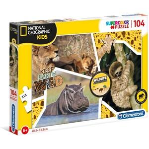 """Clementoni (27143) - """"Wildlife Adventure"""" - 104 pezzi"""