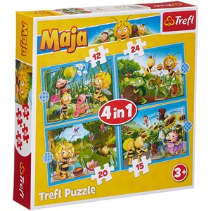 "Trefl (34356) - ""Maya the Bee Adventures"" - 12 15 20 24 pezzi"