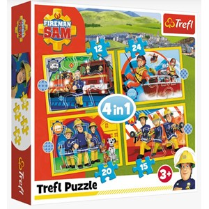 "Trefl (34373) - ""Helpful Fireman Sam"" - 12 15 20 24 pezzi"