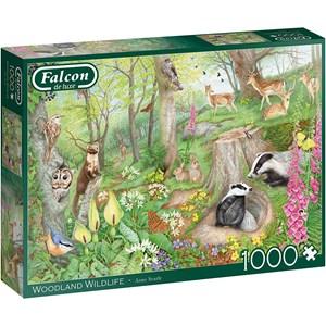"Falcon (11322) - Anne Searle: ""Woodland Wildlife"" - 1000 pezzi"