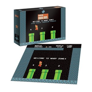 """USAopoly (PZ005-482) - """"Super Mario 1-2 Welcome to Warp Level"""" - 1000 pezzi"""