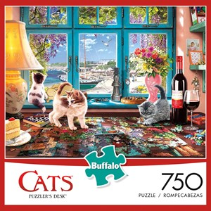 "Buffalo Games (17084) - Steve Read: ""Puzzler's Desk"" - 750 pezzi"