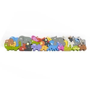 """Begin Again (I1305) - """"Jumbo Animal Parade A-Z Puzzle"""" - 26 pezzi"""