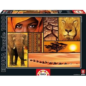 """Educa (16293) - """"Colors of Africa"""" - 1000 pezzi"""