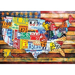 "Buffalo Games (2483) - ""Road Trip U.S.A."" - 300 pezzi"